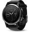 Garmin fenix 5S mit schwarzem Armband , musta/hopea